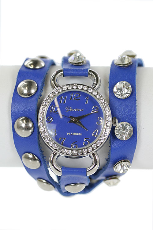 STUDDED WRAP AROUND WATCH