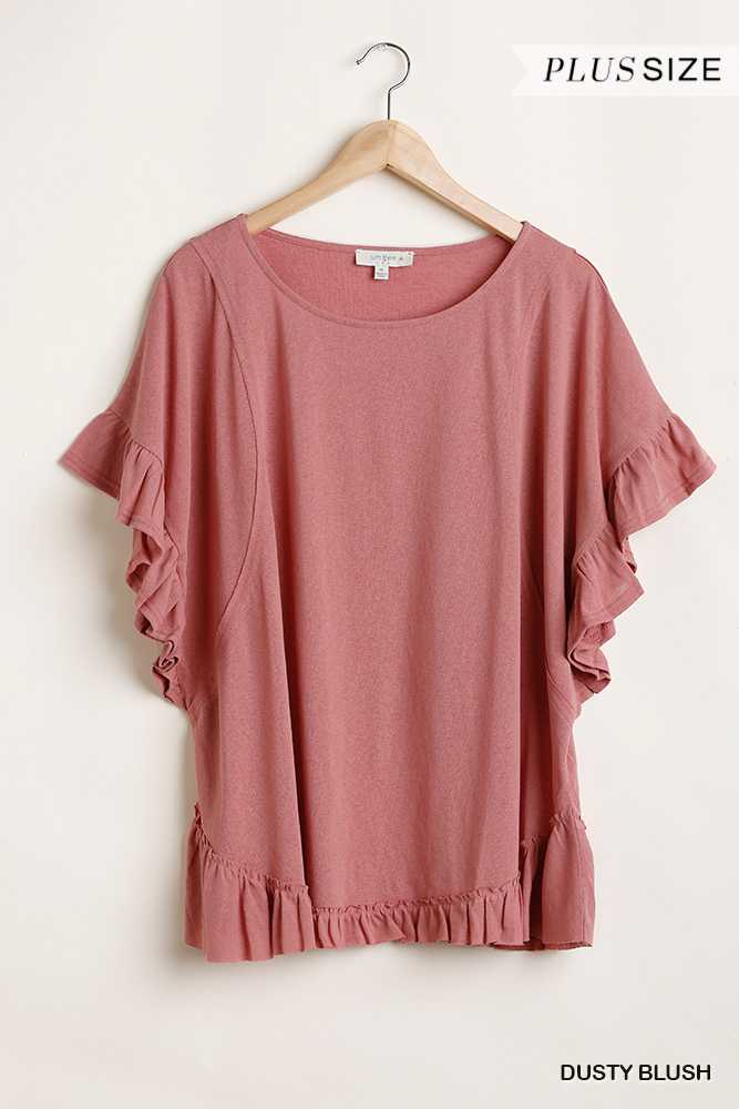 Loose Fit Wide Neck Top