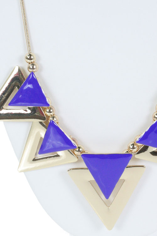 LACQUER GEO NECKLACE