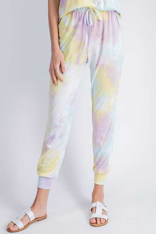 Tie dye Printed Jogger Pants with Side Pockets.