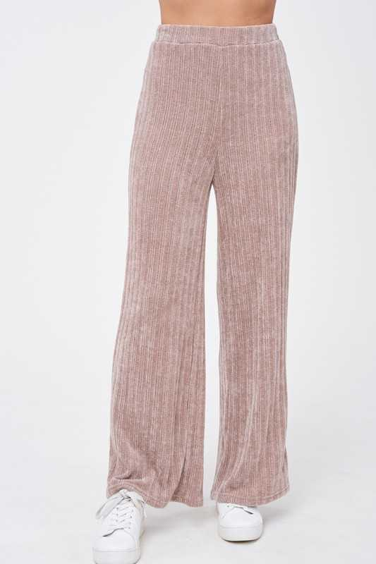SWEATER KNIT BANDING PANTS