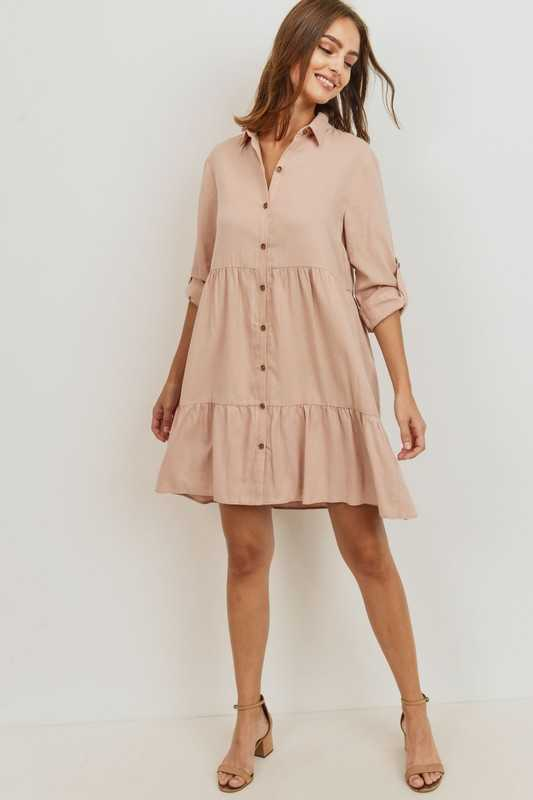 Cancan Button Down Dress