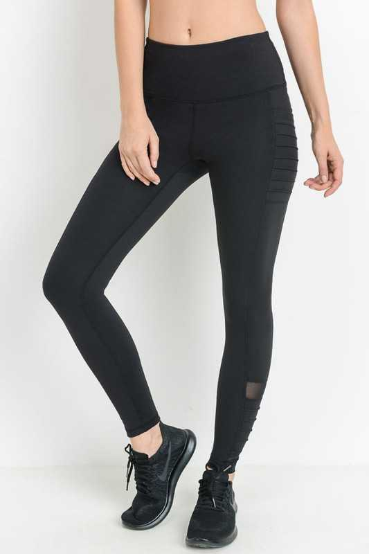 Highwaist Moto Ribbed Full Leggings
