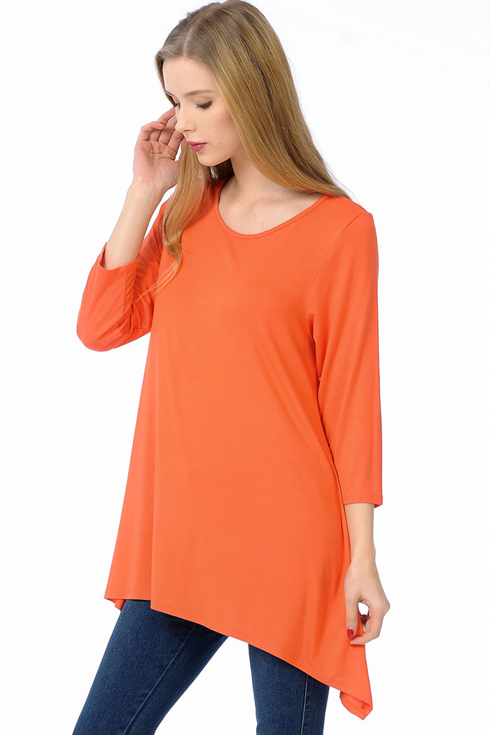 PLUS SIDE DRAPING JERSEY TUNIC