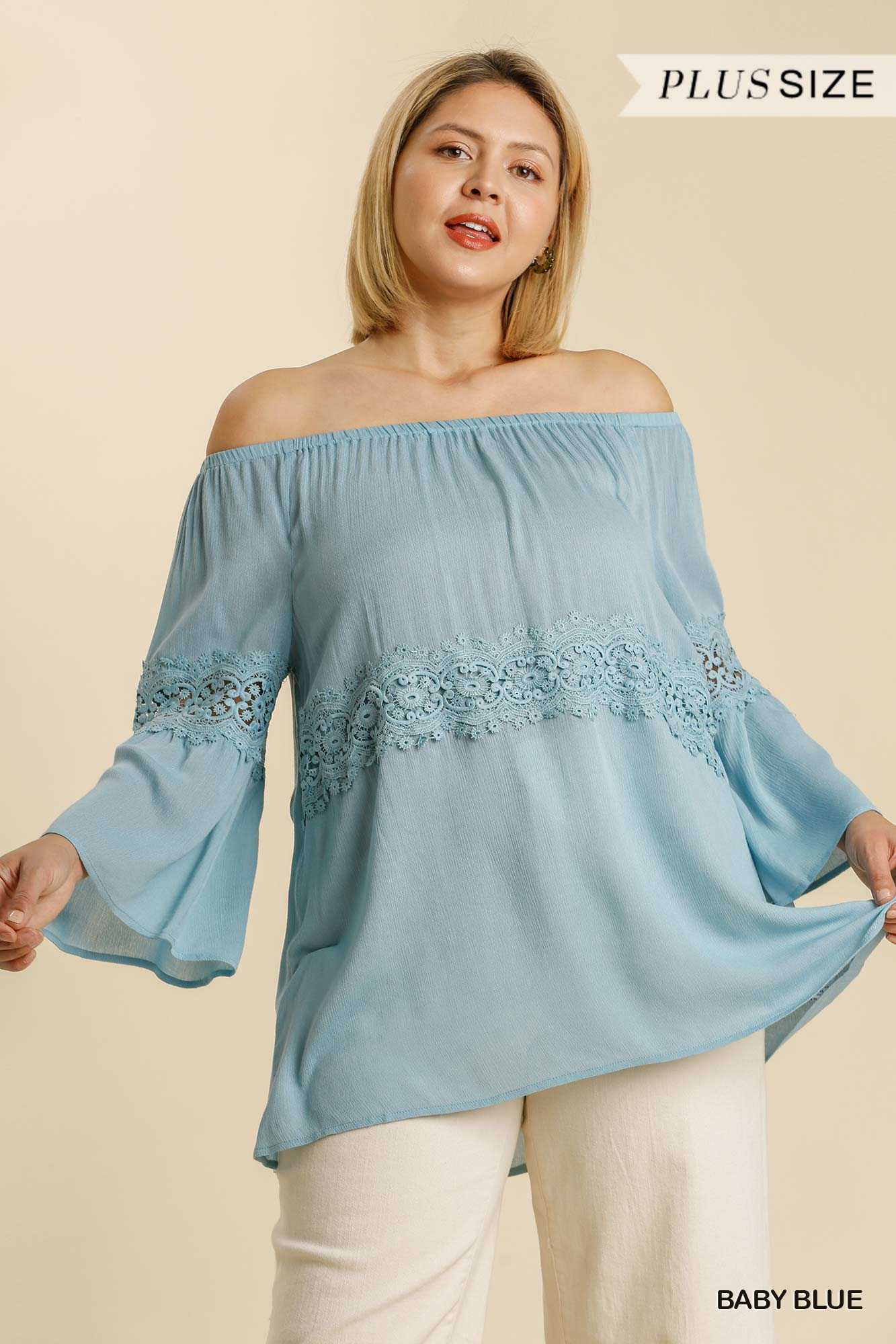 Off Shoulder Bell Sleeve Tunic