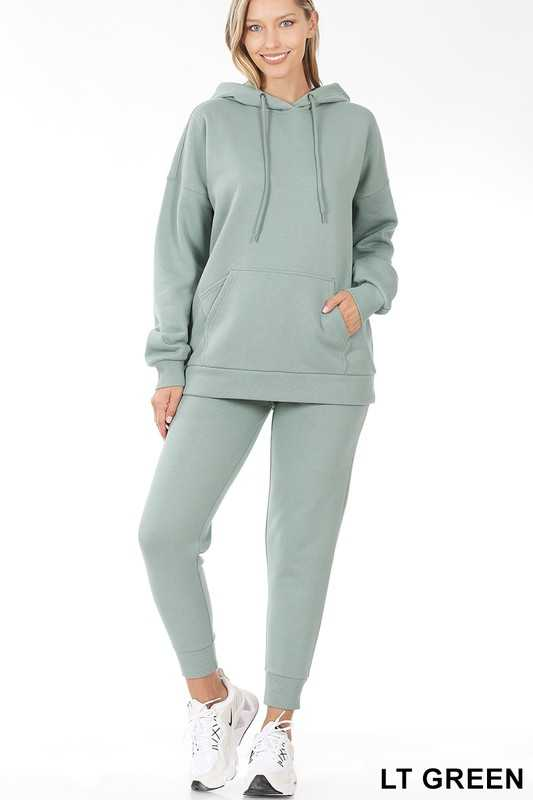 KANGAROO POCKET HOODIE & SWEATPANTS SET