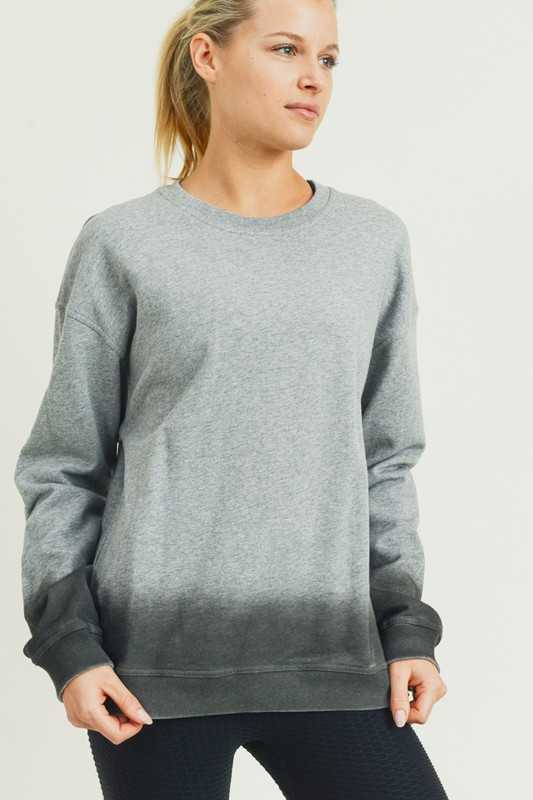 Ombre Essential Cotton Terry Pullover