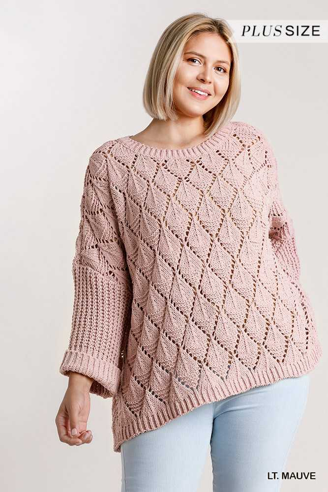 Round Neck Loose Knit Pullover Sweater