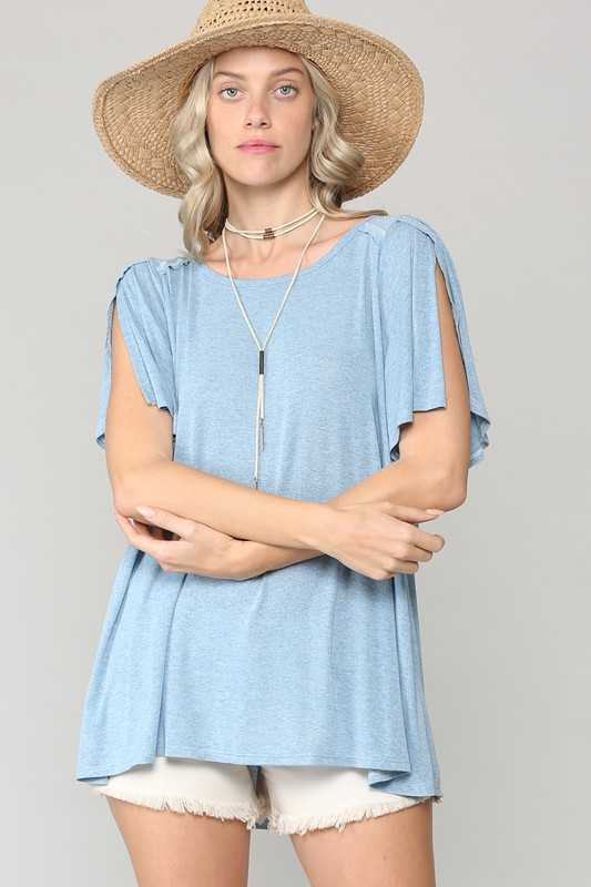TULIP SLEEVES LOOSE FIT CASUAL TUNIC