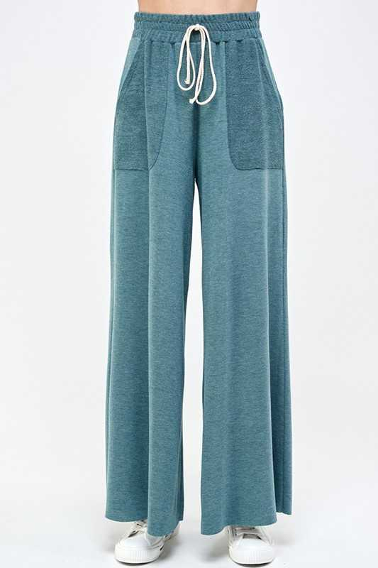 Soft Comfortable High Waisted Long Wide Pants