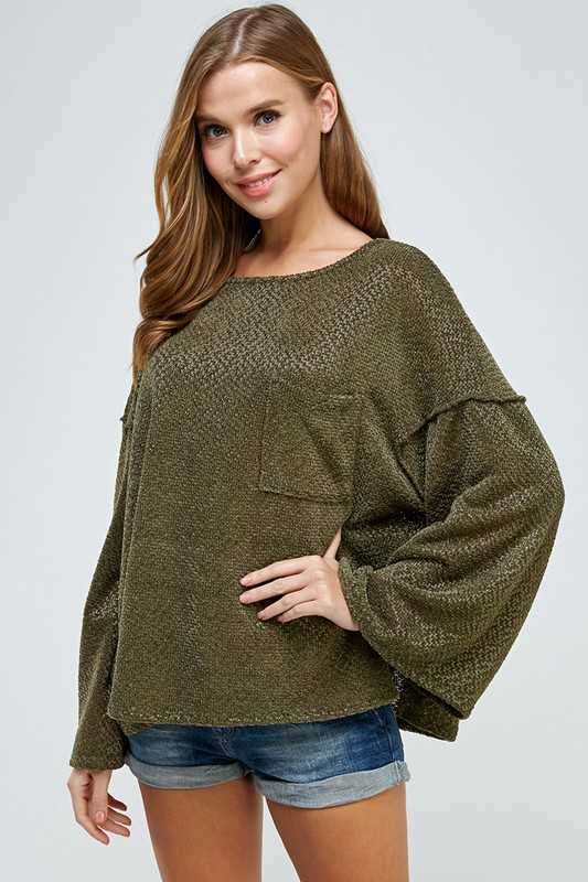 SOLID OVERSIZED BOXY TOP