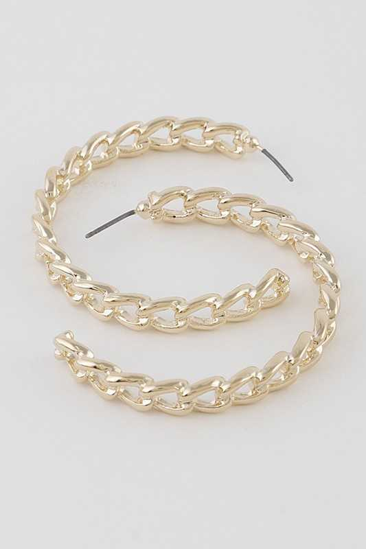 Melted Chain Hoop Earrings