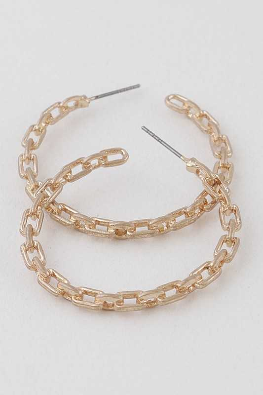 Chainlink Hoop Earrings