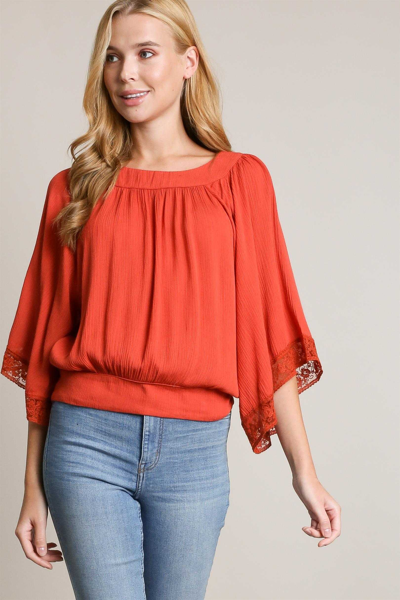 SOLID LACE TRIM OPEN BACK ROUND NECK TOP