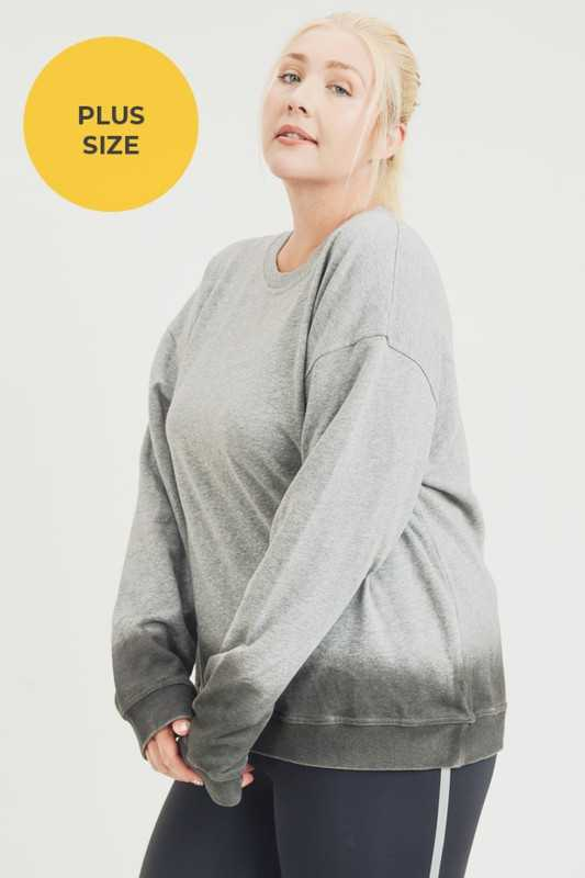 PLUS Ombre Essential Cotton Terry Pullover