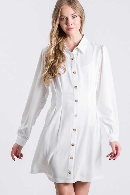 Ivory Hourglass Shirt Dress