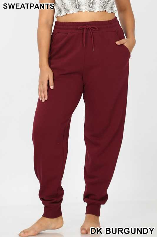 PLUS JOGGER SWEATPANTS ELASTIC WAISTBAND