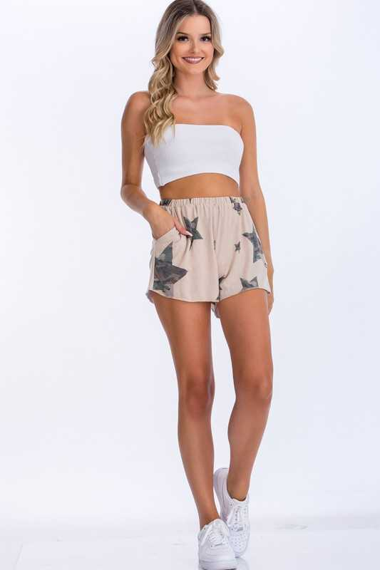 Star and Camo Short