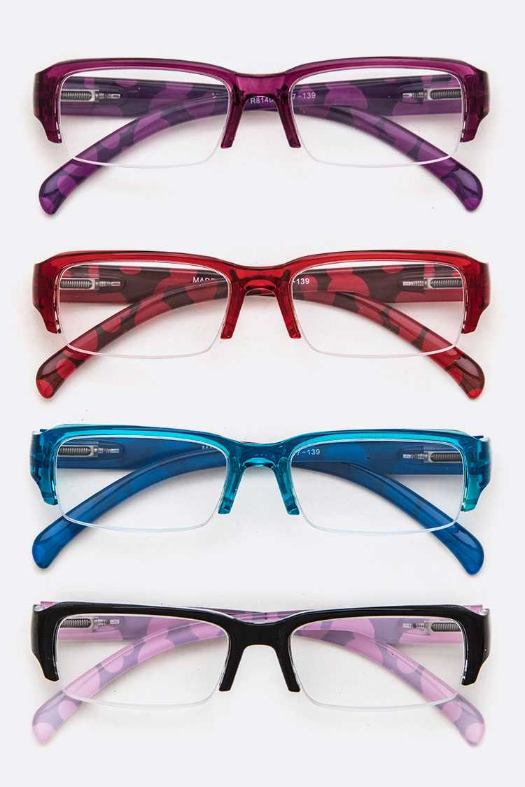 PRINTED TEMPLE FASHION READING GLASSES