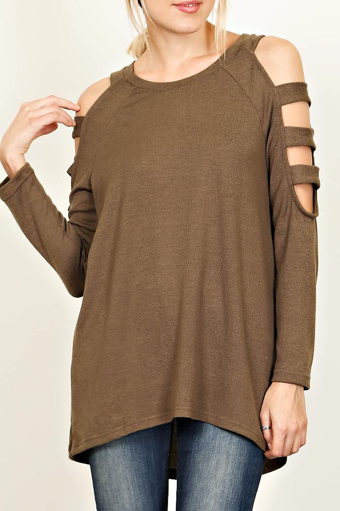 CUT OUT SLEEVES TOP