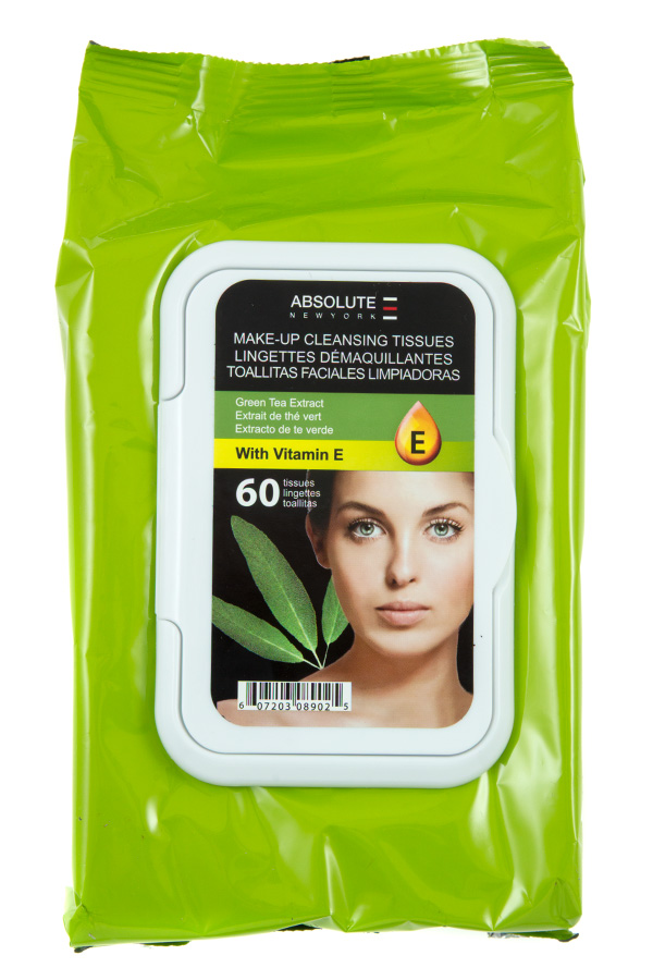GREEN TEA EXTRACT MAKE UP CLEANSING TISSUES