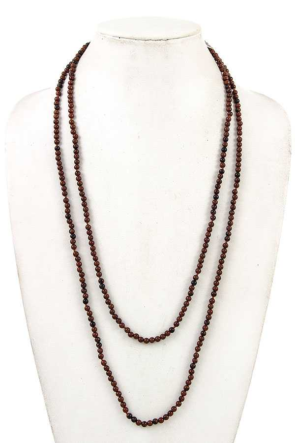 ELONGATED BEAD NECKLACE