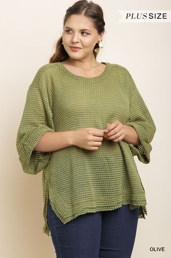 PLUS RIBBED BOXY TOP