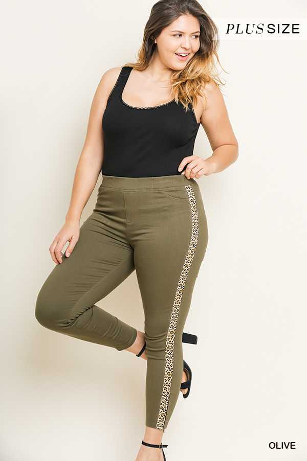PLUS HIGH WAIST SKINNY STRETCH PANTS