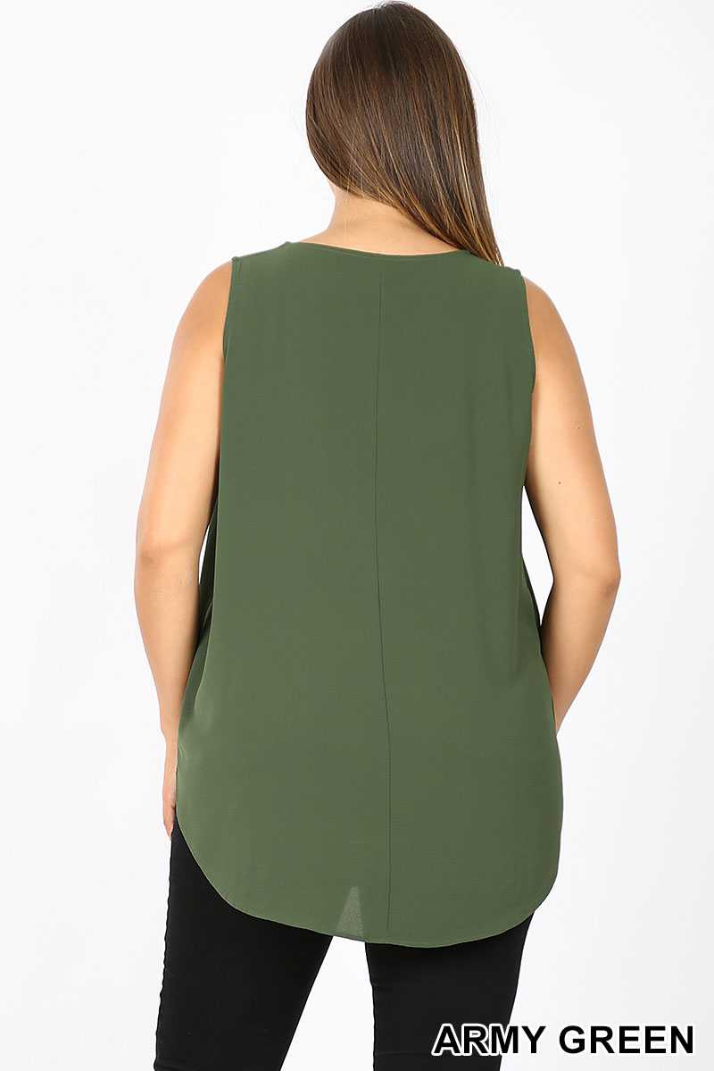 PLUS SOLID ROUND NECK BOXY TANK