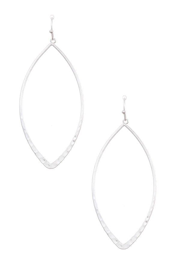 MARQUISE OUTLINED DROP EARRING