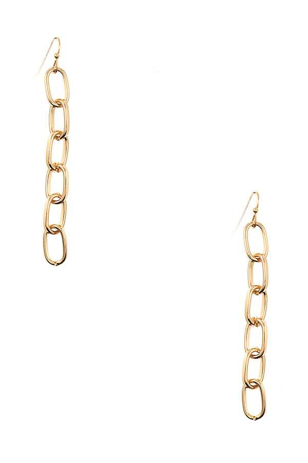 CHAIN LINK DROP EARRING