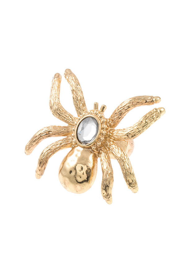 SPIDER GEM ACCENT STRETCH RING