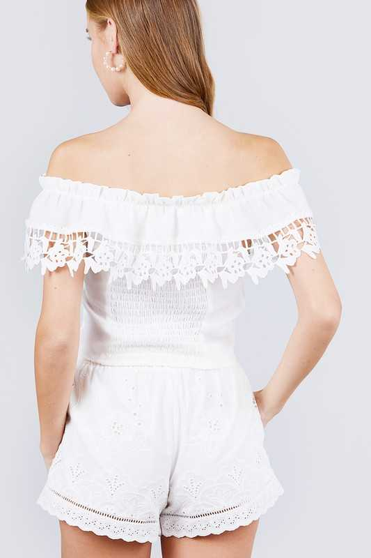 OFF THE SHOULDER WOVEN TOP