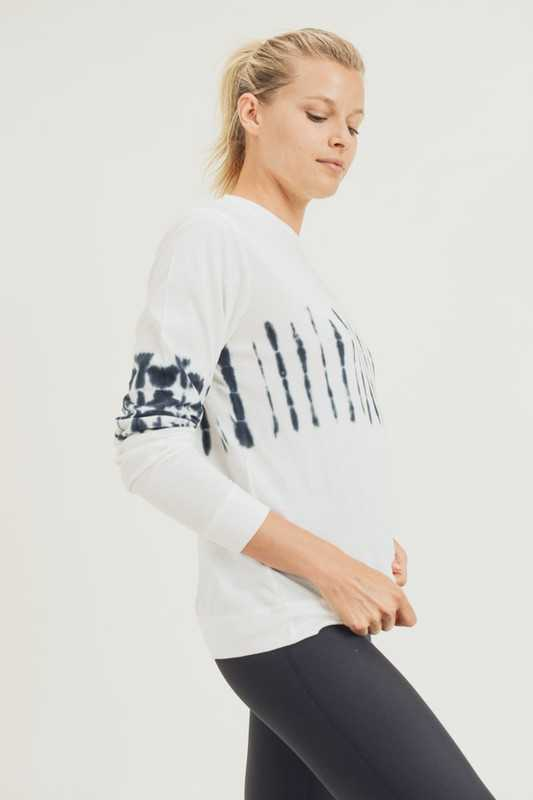 Tie Dye Center Cotton Pullover