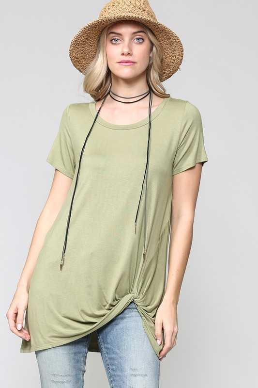 SHORT SLEEVE LOOSE FIT LONG TUNIC