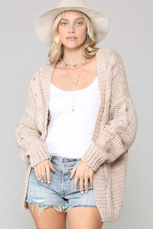 Cozy-knit cardigan