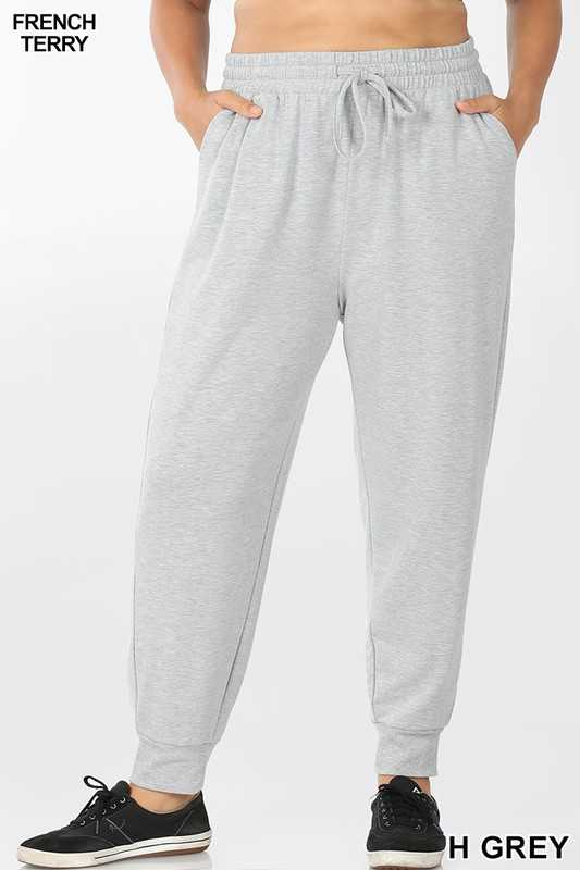 PLUS FRENCH TERRY CAPRI JOGGER SWEATPANTS