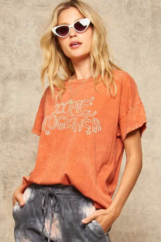 Come Together Mineral Washed Vintage Graphic Tee