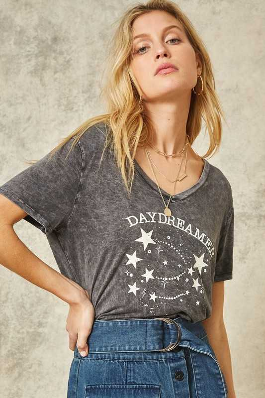 Daydreamer Mineral Washed Vintage Graphic Tee