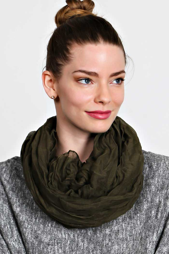 CRINKLED SOLID SCARF