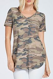 CAMOUFLAGE PRINT TOP