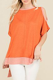 DOUBLE KNIT BOXY TOP