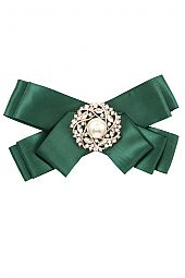 SWIRL GEM PEARL ACCENT ORNATE RIBBON