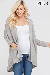 PLUS SOLID SOFT CARDIGAN