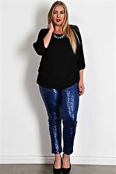 SEQUIN OVERLAY KNIT LEGGING