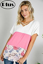 STRAPPY DETAIL COLOR BLOCK TOP