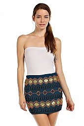 ETHNIC PATTERN EMBELLISHED SKIRT