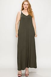 PLUS CAMI JERSEY MAXI DRESS