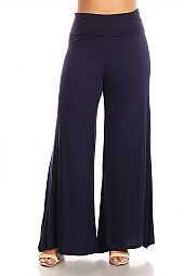 SOLID JERSEY PALAZZO PANTS