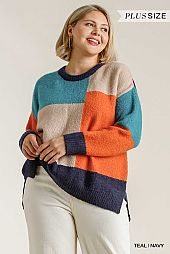 Colorblock Contrasted Cotton Fabric on Back Top